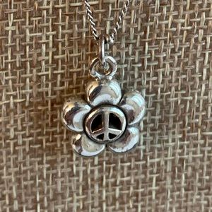 Brighton Peace Flower Necklace Petite